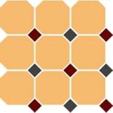 Декоративная плитка TopCer Octagon Ochre Yellow Brick-Red 30x30 см, толщина 8 мм