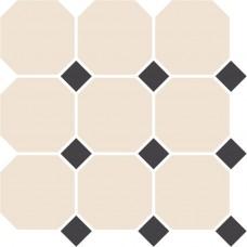 Декоративная плитка TopCer Octagon White Black Dots 30x30 см, толщина 8 мм