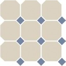 Декоративная плитка TopCer Octagon White Blue Cobalt Dots 30x30 см, толщина 8 мм