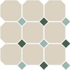 Декоративная плитка TopCer Octagon White Turquoise Green 30x30 см, толщина 8 мм