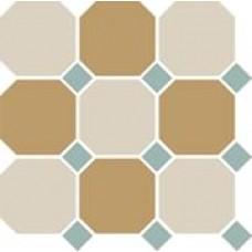 Декоративная плитка TopCer Octagon White Yellow Turquoise 30x30 см, толщина 8 мм