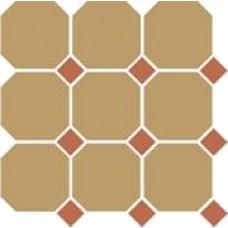 Декоративная плитка TopCer Octagon Yellow Caramel Dots 30x30 см, толщина 8 мм