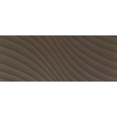 Декоративная плитка Tubadzin Elementary Brown Wave 29.8x74.8 см, толщина 10 мм