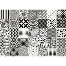 Декоративная плитка Vallelunga Colibri Colibri Comp Nero 62.5x87.5 см, толщина 8 мм
