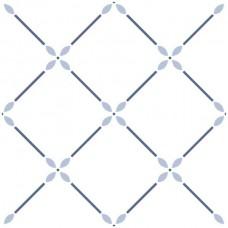 Декоративная плитка Vallelunga Colibri Colibri Modulo A6 Blu 12.5x12.5 см, толщина 8 мм