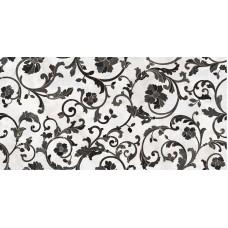 Декоративная плитка Versace Emote Bianco Nero Decoro Floreale 39x78 см, толщина 10 мм