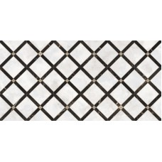 Декоративная плитка Versace Emote Bianco Nero Decoro Intreccio 39x78 см, толщина 10 мм