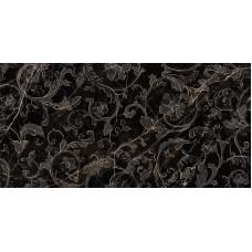 Декоративная плитка Versace Emote Nero Amasanta Decoro Floreale 39x78 см, толщина 10 мм