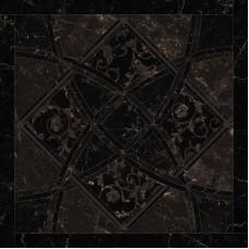 Декоративная плитка Versace Emote Nero Amasanta Intarsio 78x78 см, толщина 10 мм