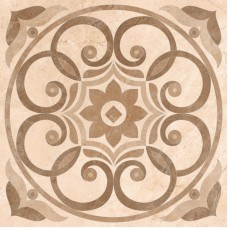 Декоративная плитка VitrA Marfim Medalion Decor Beige Brown Lapp. 45x45 см, толщина 9 мм